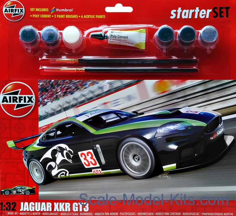 Airfix Gift Set Jaguar Xkr Gt3 Fantasy Scheme Plastic Scale