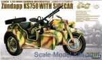 GWH-L3508 WWII German Zundapp KS 750 with Sidecar