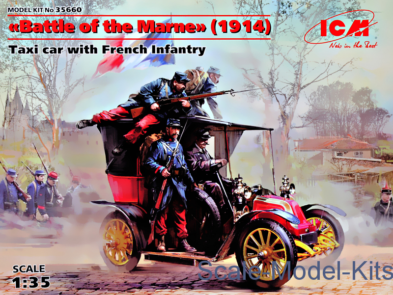 """Battle of the Marne"" (1914), Taxi car with French Infantry"