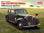 Army Car / Truck: Typ 320 (W142) Saloon, WWII German Staff Car, ICM, Scale 1:35