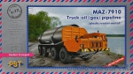 PST72080 MAZ-7910 truck oil (gas) pipeline