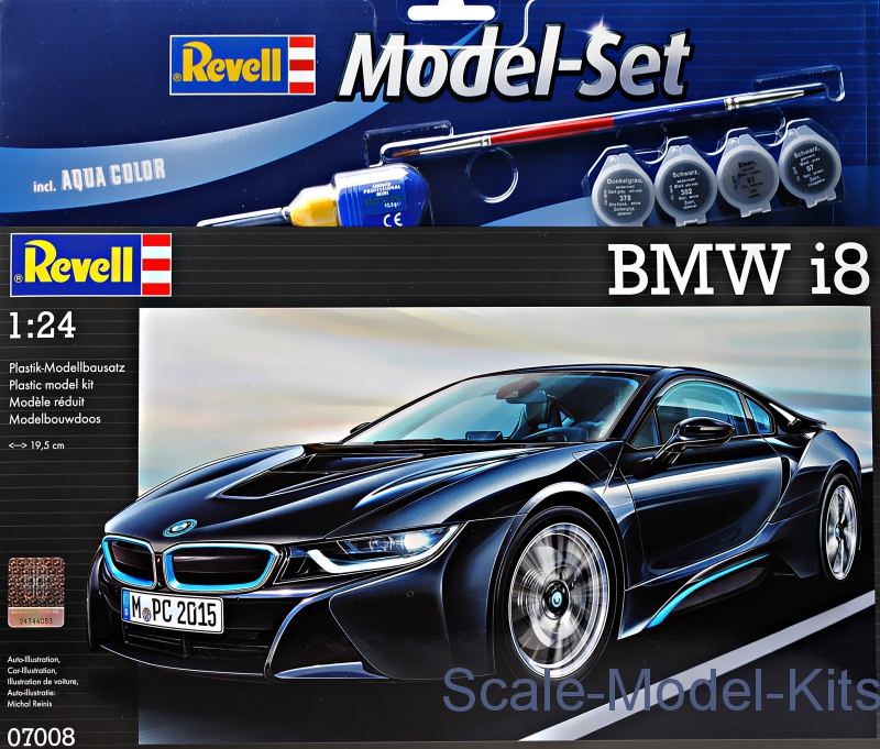 Revell Gift Set Bmw I8 Plastic Scale Model Kit In 1 24 Scale