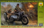 ZVE3607 German motorcycle R-12 with sidecar and crew