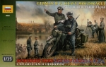 ZVE3632 R-12 German heavy motorcycle with rider and officer