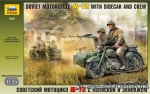 ZVE3639 Soviet motorcycle M-72 with sidecar and crew